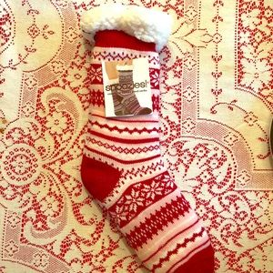 SOLD NWT  Cozy Fully Lined Sherpa Snoozies Socks!
